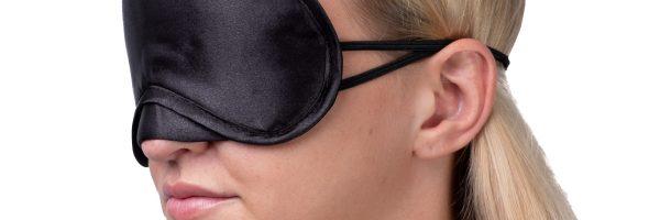 Oogmasker goodnight grijs:zwart