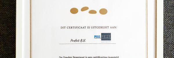 Profeit BV ontvangt De Gouden Pepernoot.