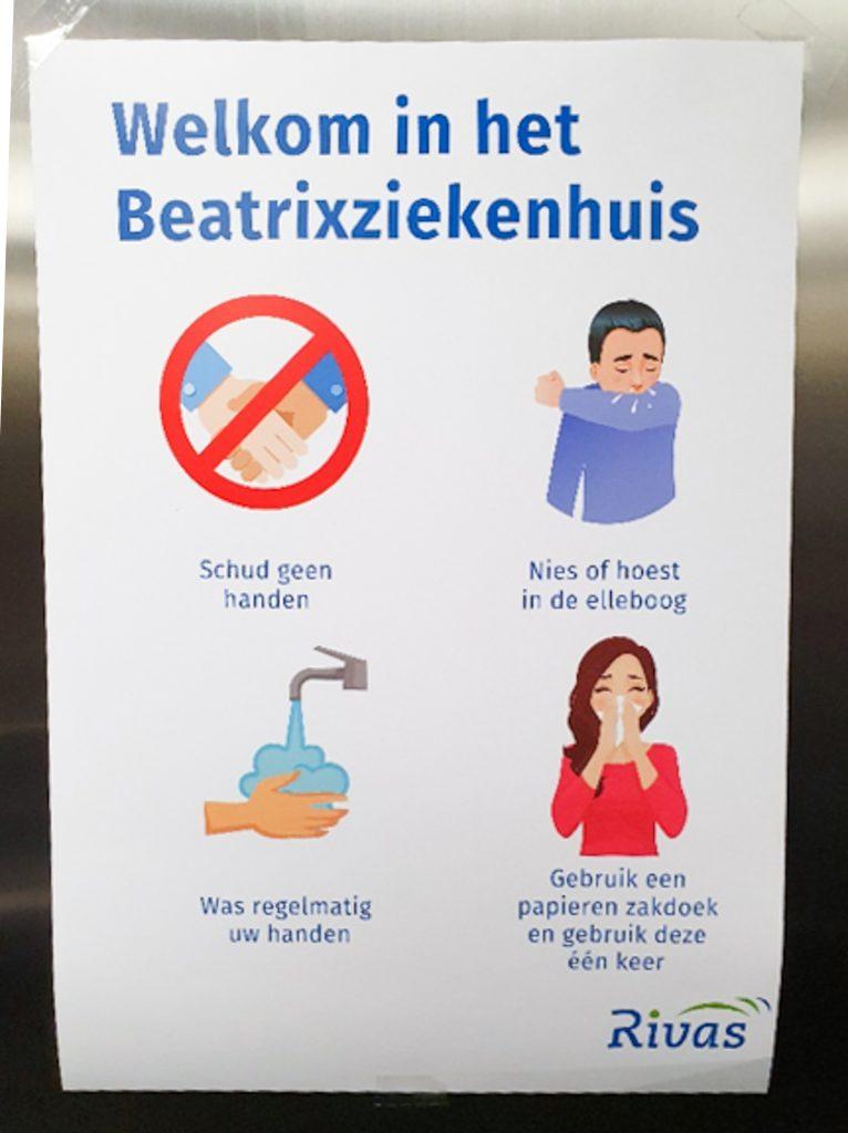 Coronavirus - advies - Beatrixziekenhuis
