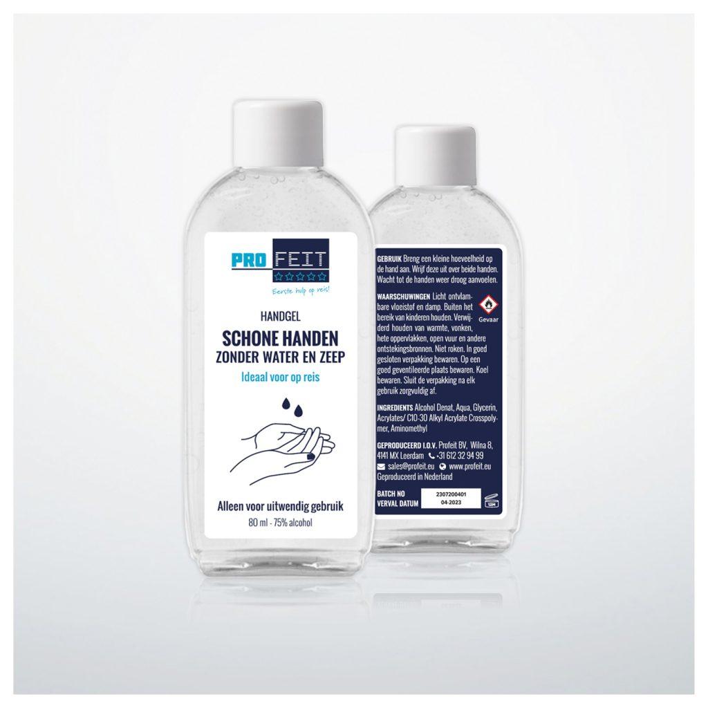 Profeit Handgel - 80 ml - schone handen zonder water en zeep