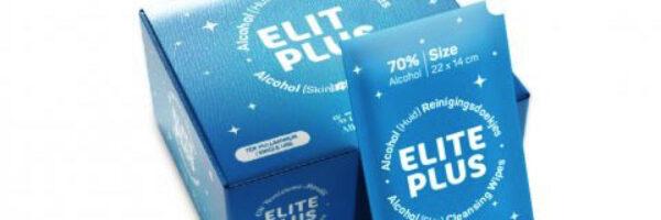 Elite Plus Alcohol (huid) reinigingsdoekjes in sachet