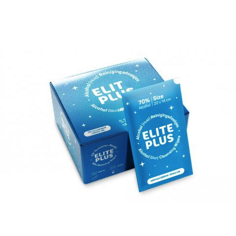 Elite Plus Alcohol (huid) reinigingsdoekjes in sachet